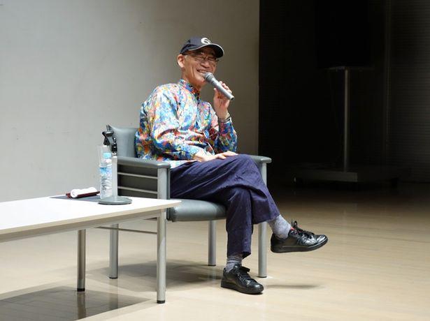 兵庫県立美術館内でのトークショーに登壇した、富野由悠季総監督
