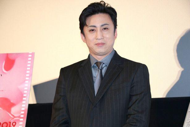 『シネマ歌舞伎 女殺油地獄』の舞台挨拶に登壇した松本幸四郎