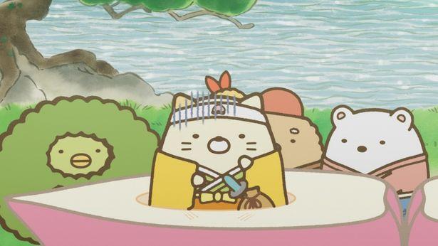 ねこは「桃太郎」の世界に吸い込まれてしまう