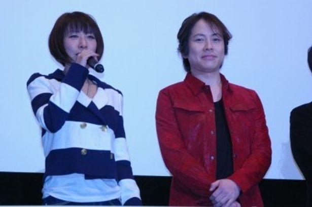 『トリコ』シリーズで声優を務める、小松役の朴ロ美(左)とトリコ役の置鮎龍太郎