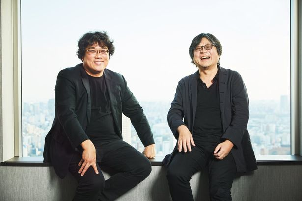 笑顔こぼれる!相思相愛なポン・ジュノ監督×細田守監督