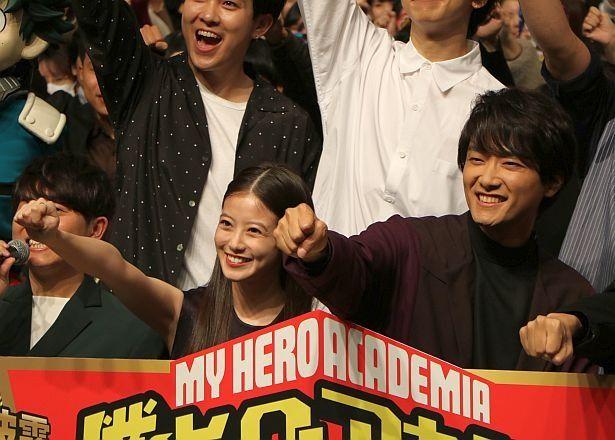 【写真を見る】悪役を演じた今田美桜、井上芳雄(手前中央・右)