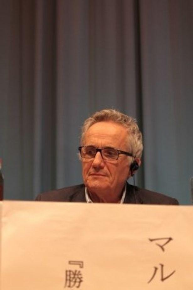2010年のイタリア映画祭で来日した際のマルコ・ベロッキオ監督。この時に本作が上映された