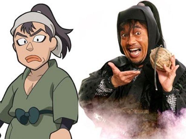 フリーの忍者で、プロの暗殺者である海松万寿烏(みるますからす)を演じている竹中直人
