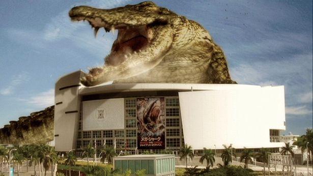 『メガ・シャークvsクロコザウルス』の巨大クロコダイルはやりすぎサイズの450m!