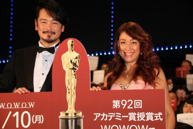 「WOWOW×OSCARS特別試写会」に登壇したLiLiCoと純烈の小田井涼平夫妻