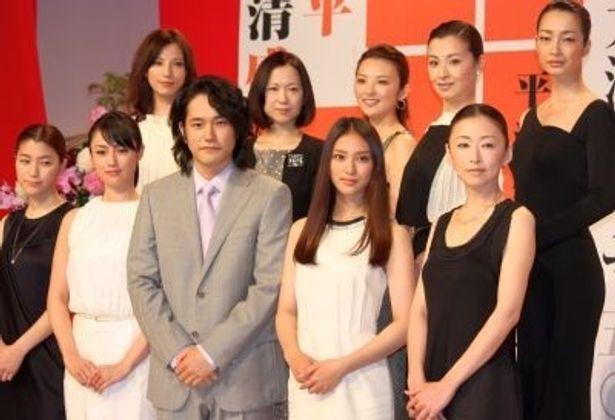 2012年大河ドラマ「平清盛」に出演する女性キャストたち