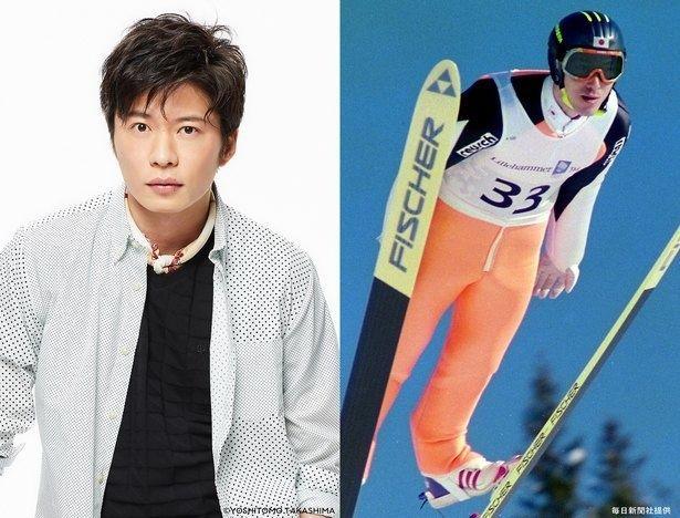 田中圭が演じるのは、実在のスキージャンパー西方仁也