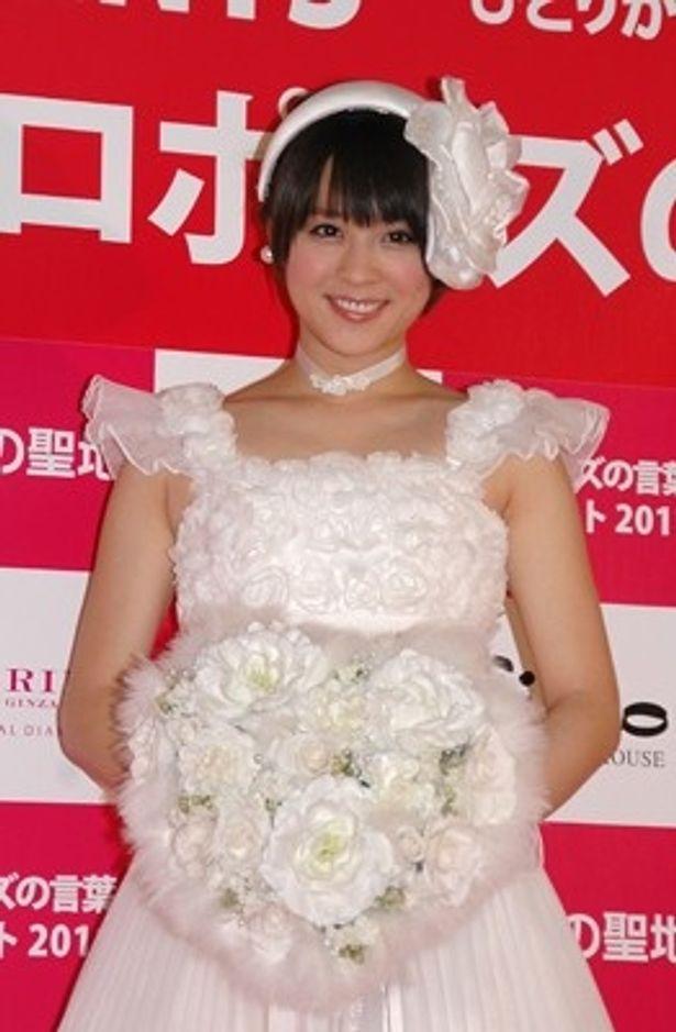 「全国プロポーズの言葉コンテスト2011~絆」に出席した北乃きいさん。理想の結婚相手は「一緒にドレスを選んでくれるような、美の分かる人」だそう