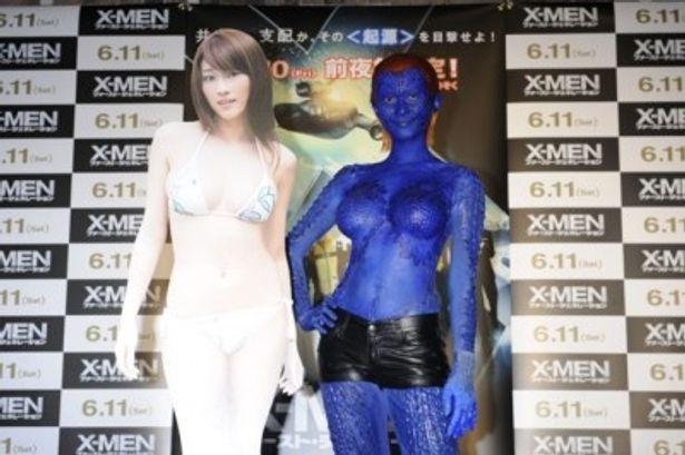 『X-MEN』シリーズの人気キャラクター、ミスティークに変身した原幹恵