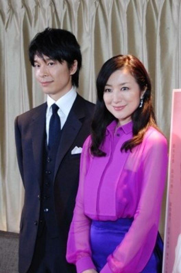 映画「セカンドバージン」の取材会に出席した長谷川博己、鈴木京香