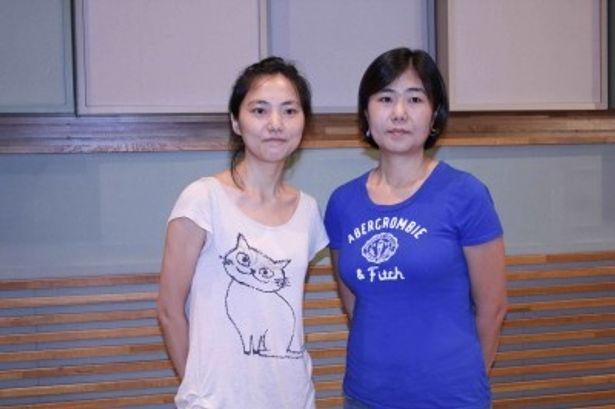 原作の脚本を務めたホン姉妹(左からホン・ミラン氏、ホン・ジョンウン氏)