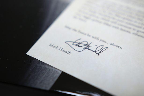マーク・ハミルのサイン