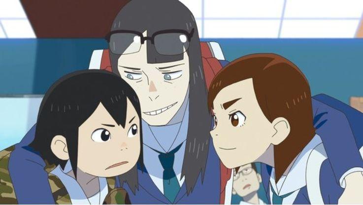 浅草みどり(左)の声は、女優の伊藤沙莉が務めた(「映像研には手を出すな!」)