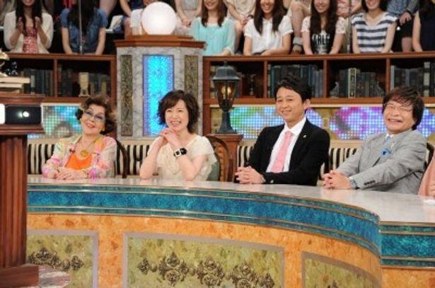 中居正広にアドバイスするゲスト・野村沙知代、磯野貴理子、有吉弘行、尾木直樹(写真左から)