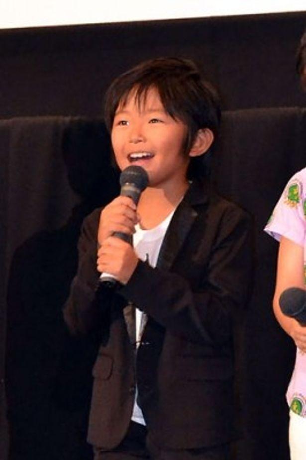 「撮影時より身長が5cm伸びました」と、嬉しそうに語る加藤清史郎