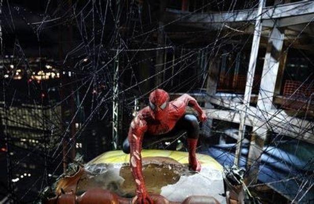 2位から4位は、トビー・マグワイアがスパイダーマンに扮した『スパイダーマン』シリーズ3作品で占められた(写真は『スパイダーマン3』)
