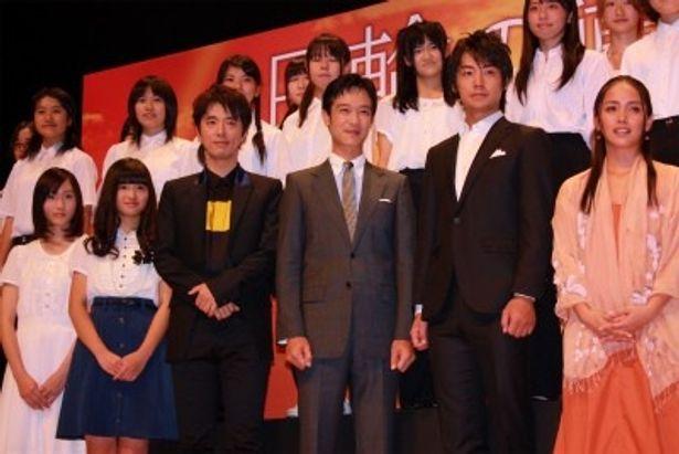 『日輪の遺産』の完成披露試写会で堺雅人らが登壇