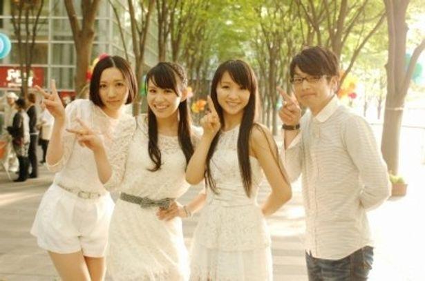 『モテキ』で共演を果たしたPerfumeと森山未來(右)