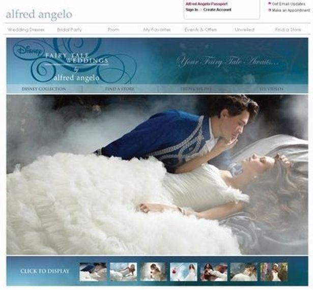 アルフレッド・アンジェロはディズニー社と提携し、「ディズニープリンセス」をイメージしたウェディングドレスも販売している