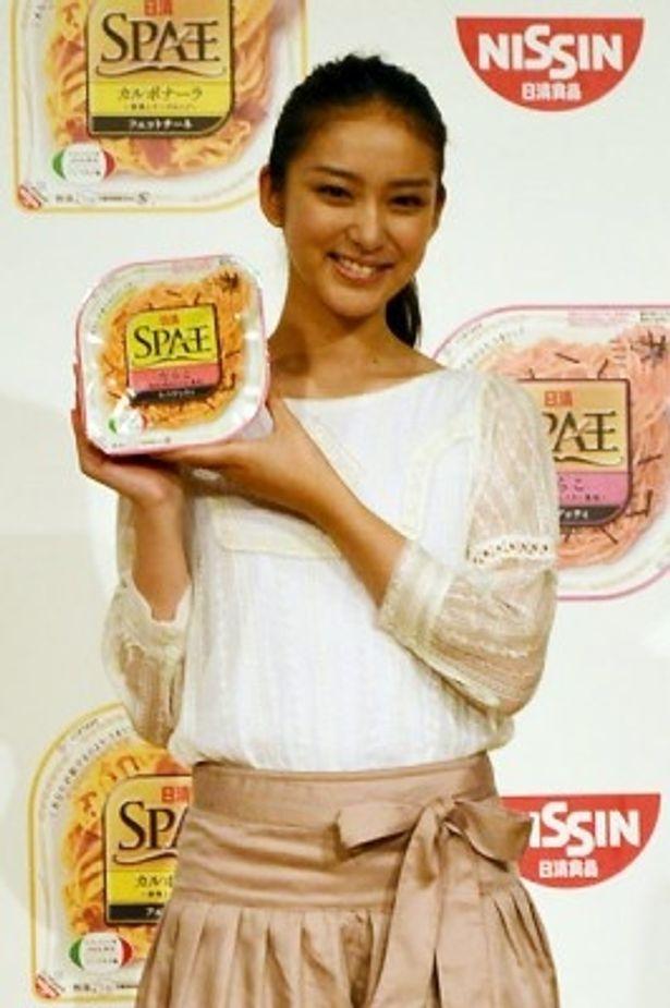 「もともとパスタが大好きで、SPA王もよく食べていた」と語る武井咲