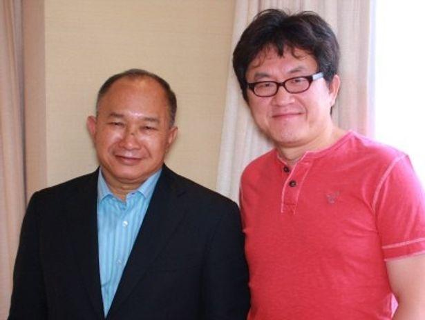 『レイン・オブ・アサシン』のジョン・ウー監督(左)とスー・チャオピン監督を直撃