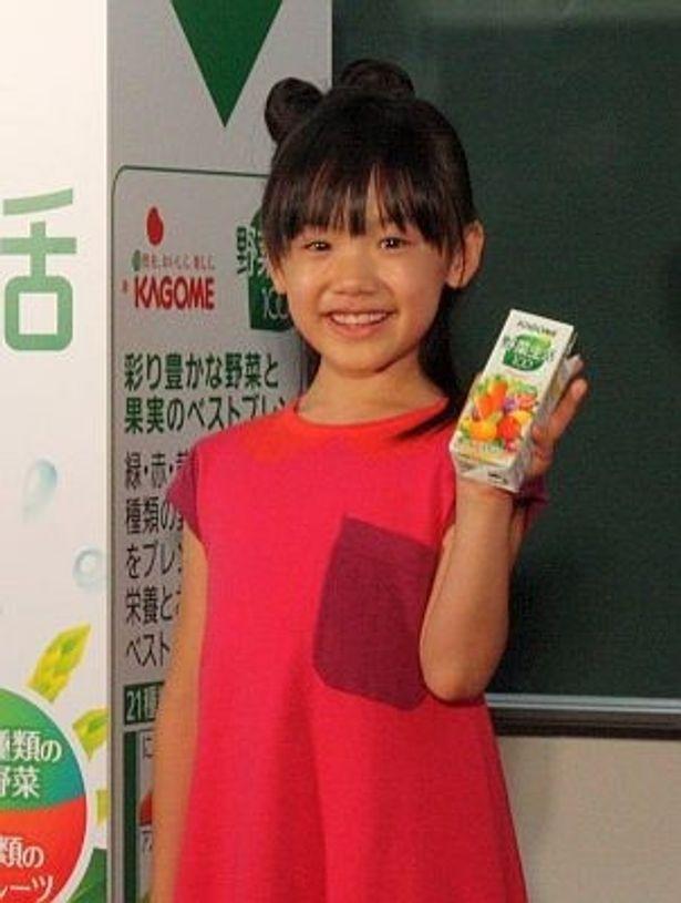 芦田愛菜さんが野菜ジュースをPR!