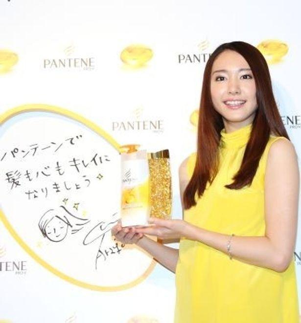 ヘアケアブランド「P&G パンテーン」の新テレビCMに出演するイメージキャラクターのガッキーこと新垣結衣さん