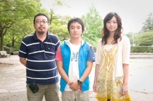 左から、中村義洋監督、主演の濱田岳、ヒロインの木村文乃