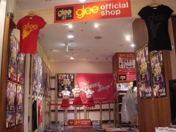 渋谷PARCO内に2週間限定で登場した「glee グリー」公式SHOP
