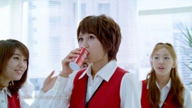 AKB48メンバーがOL姿で登場する「WONDA モーニングショット」の新CMが完成!