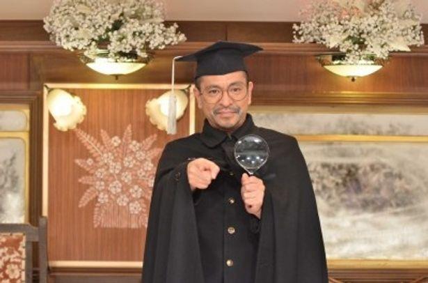 「松本人志のコントMHK」の初回放送で探偵に扮する松本人志