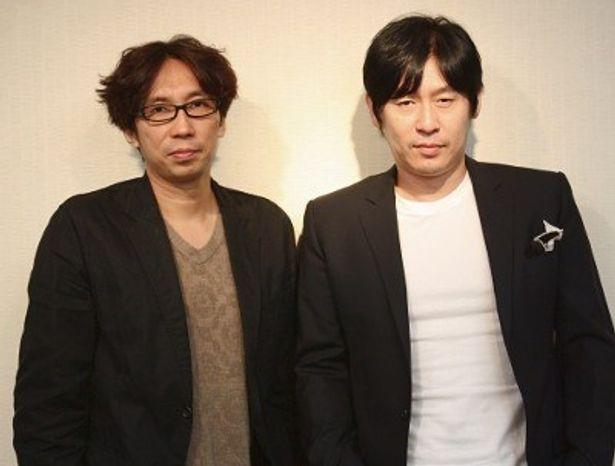 『カメリア』の1編『Kamome』に主演したソル・ギョングと行定勲監督(左)