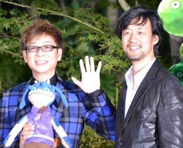 「主人公ナキの声は、香取君以外考えられなかった」と語る山崎貴監督(右)と山寺宏一(左)