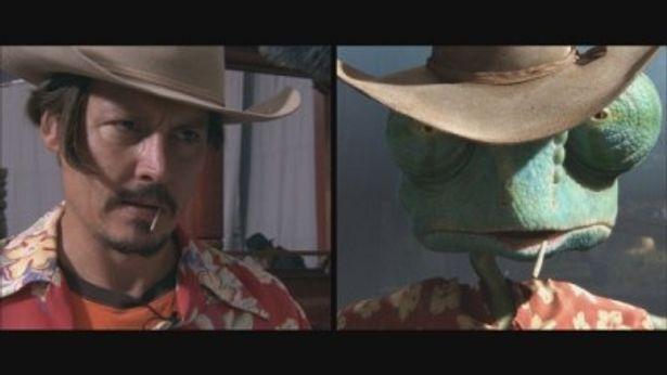 ジョニー・デップが声と体を使い、エモーション・キャプチャーを駆使して完成さえたカメレオンのランゴ