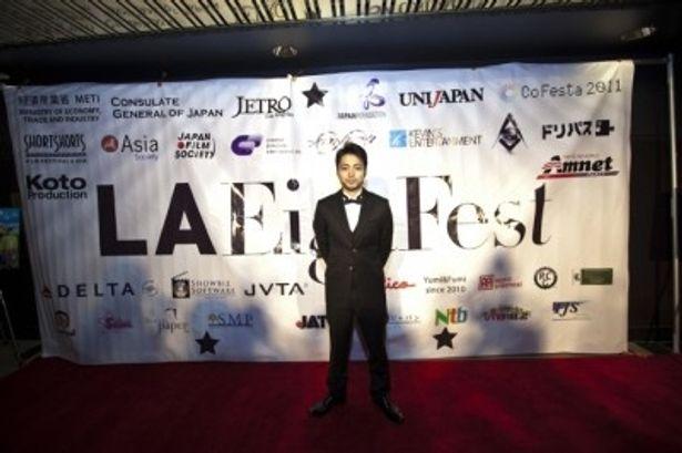 第1回LA EigaFestに出席した山田孝之