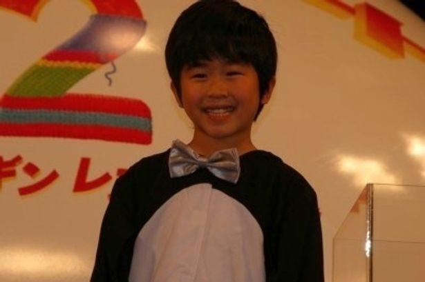 『ハッピー フィート2 踊るペンギン レスキュー隊』の舞台挨拶に登壇した鈴木福