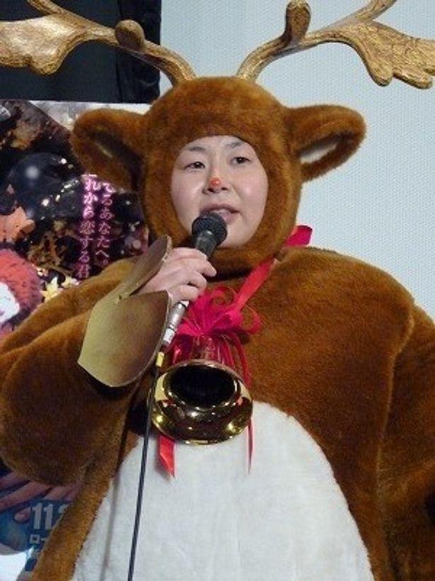 大島美幸のトナカイの着ぐるみは「ごきげんよう!」の小堺一機のお下がり