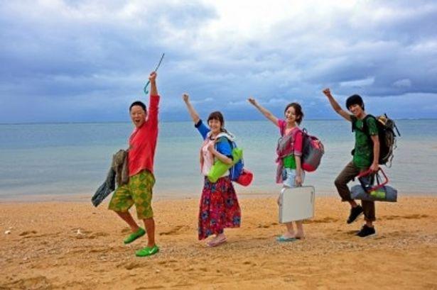 『ぱいかじ南海作戦』に出演する、左から、阿部サダヲ、貫地谷しほり、佐々木希、永山絢斗
