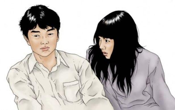 原作者・古谷実が書き下ろした『ヒミズ』主人公を演じる染谷将太と、ヒロインを演じる二階堂ふみ