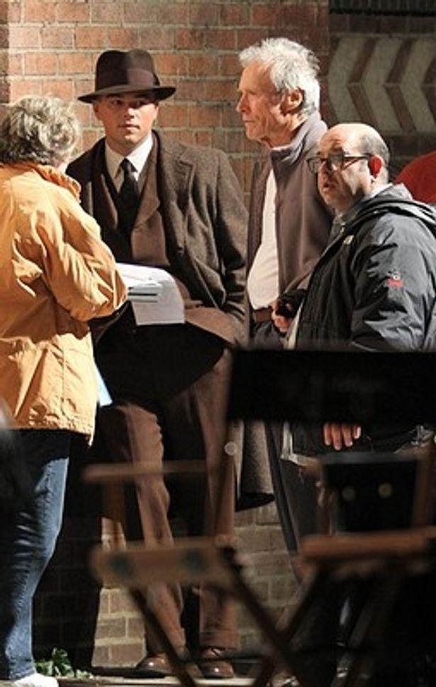 『J・エドガー』でのクリント・イーストウッド監督と主演のレオナルド・ディカプリオ