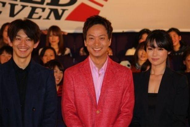 『ワイルド7』の初日舞台挨拶に瑛太、深田恭子、椎名桔平ら豪華キャストが登壇