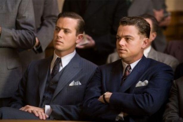『J・エドガー』でFBI副長官クライド・トルソンを演じるアーミー・ハマー
