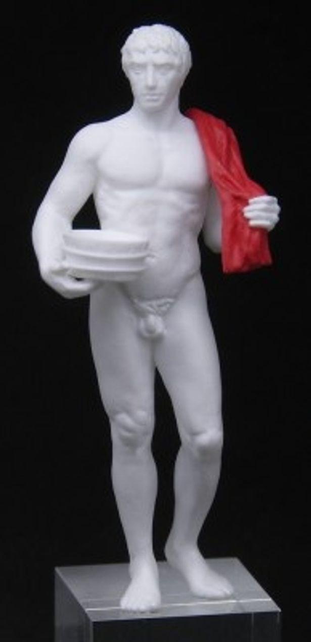 主人公のルシウス。たくましい肉体美を細部まで表現