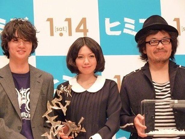 『ヒミズ』主演の染谷将太と二階堂ふみ、園子温監督