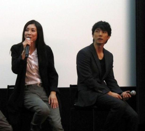トークセッションに登場した竹内結子と西島秀俊