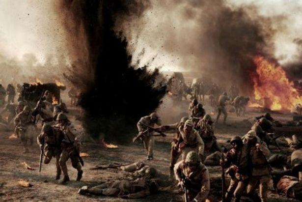 過酷な撮影を敢行した戦場シーンがド迫力!