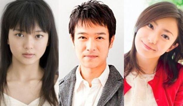 『大奥』続編に出演することがわかった、左から、多部未華子、堺雅人、菅野美穂
