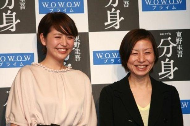 制作発表記者会見に登場した主演の長澤まさみと演出の永田琴