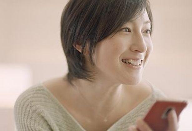 ショートカットで気合いを入れて撮影に臨んだ広末涼子さん